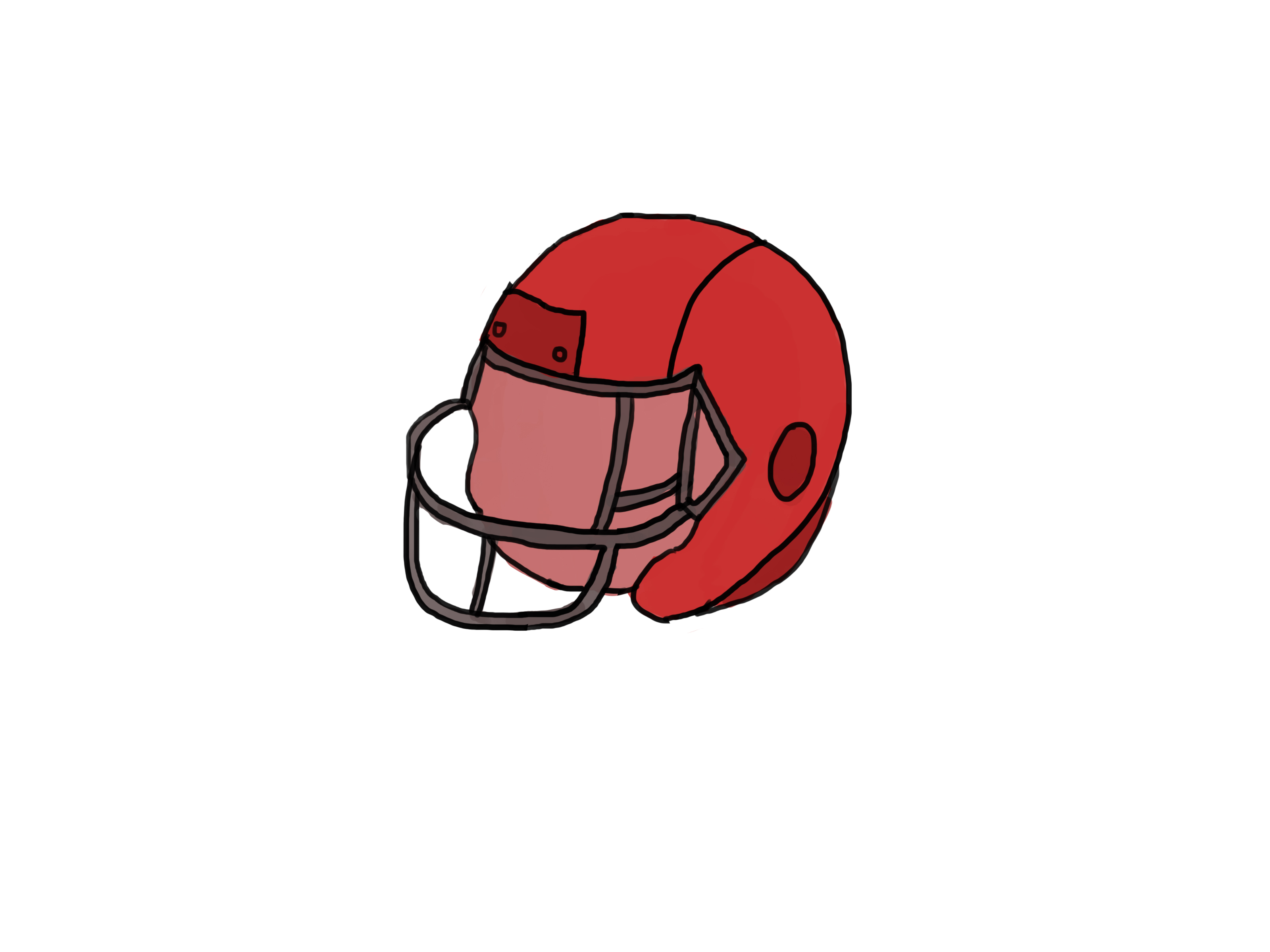 3200x2400 How To Draw A Football Helmet