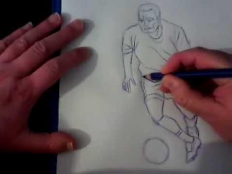 480x360 How To Draw A Football Soccer Player
