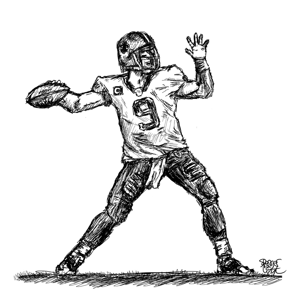 1014x1024 Football Drawing