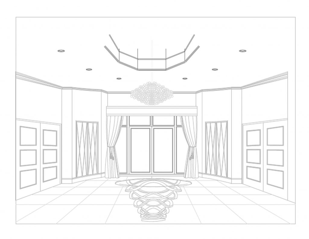 1024x791 Interior Design Office Sketches. Sketch Visual For Large Office