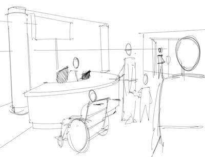 400x306 Interior Design Rendering Locating Figures In A Reception Area