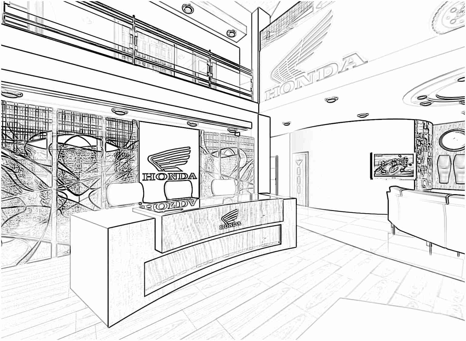 1537x1127 Krita Interiors My Thesis Sketch Work Of Bike Showroom