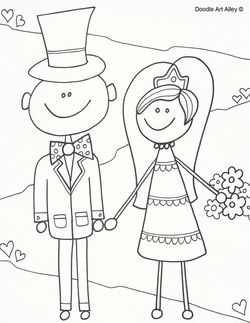 250x323 Wedding Coloring Pages Kids (Fun Reception Activity