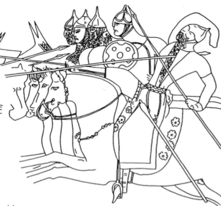 774x721 Drawing Of Panjekent Wall Painting, Reception Hall Vi.41, (After