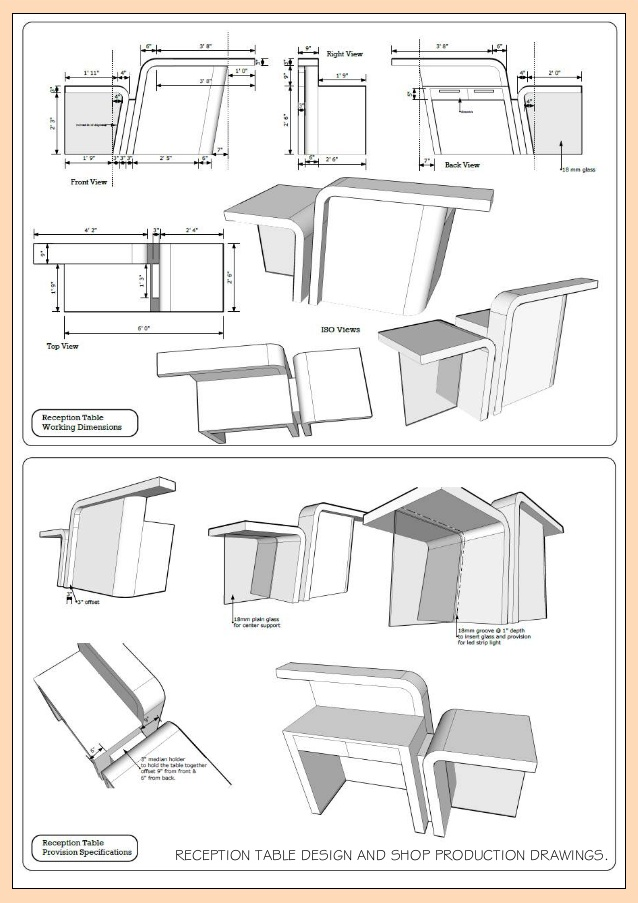 638x903 Collection Of Reception Table Drawing High Quality, Free