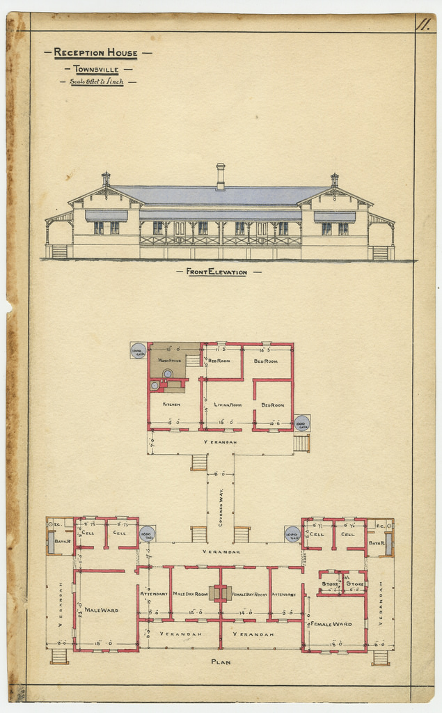 635x1024 Architectural Drawing Of The Reception House, Townsville,