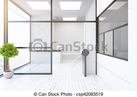 450x320 Contemporary Interior With Turnstile And Reception . Clipart