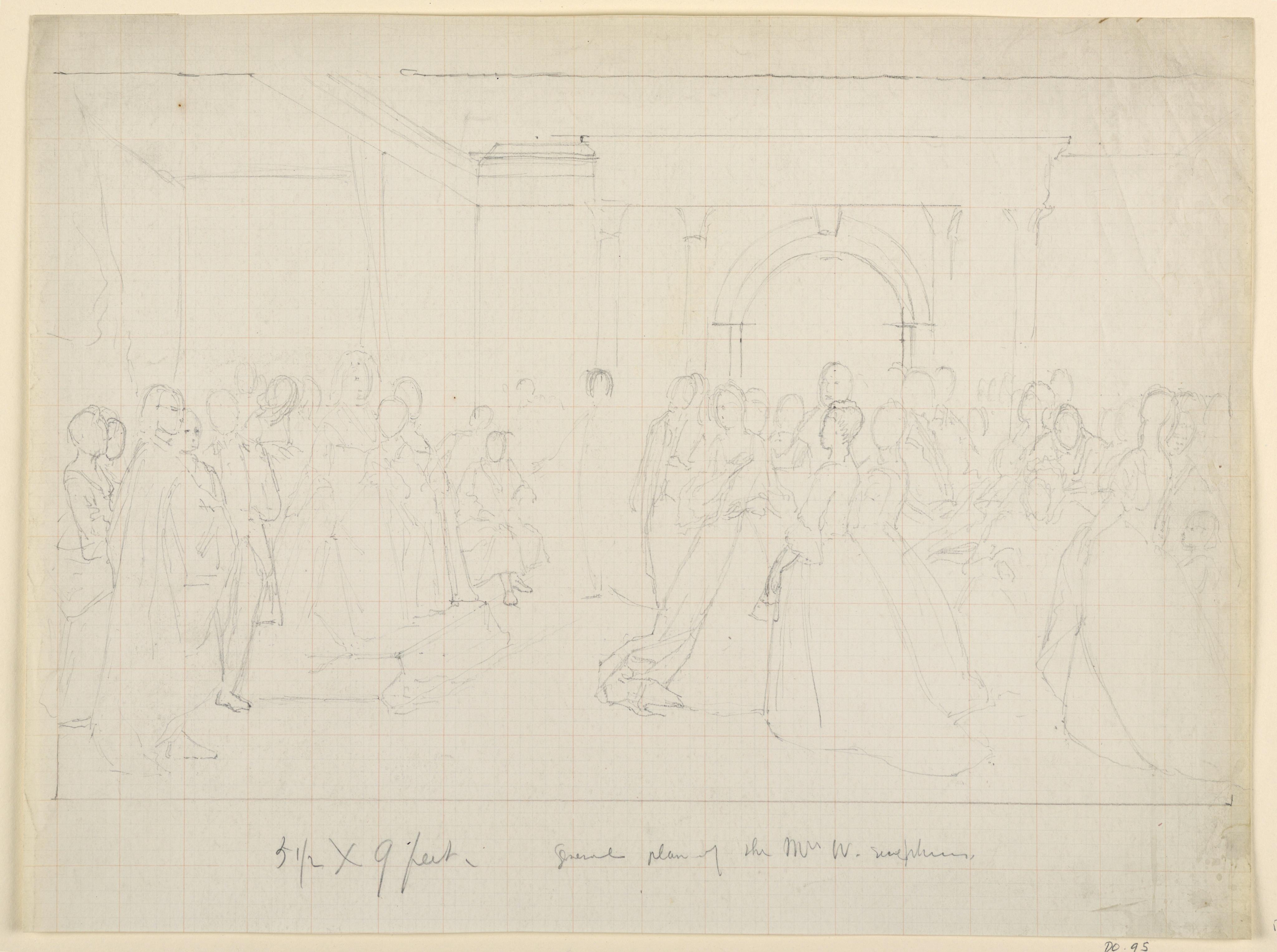 4096x3053 Filedrawing, General Plan For Martha Washington Reception, 1860