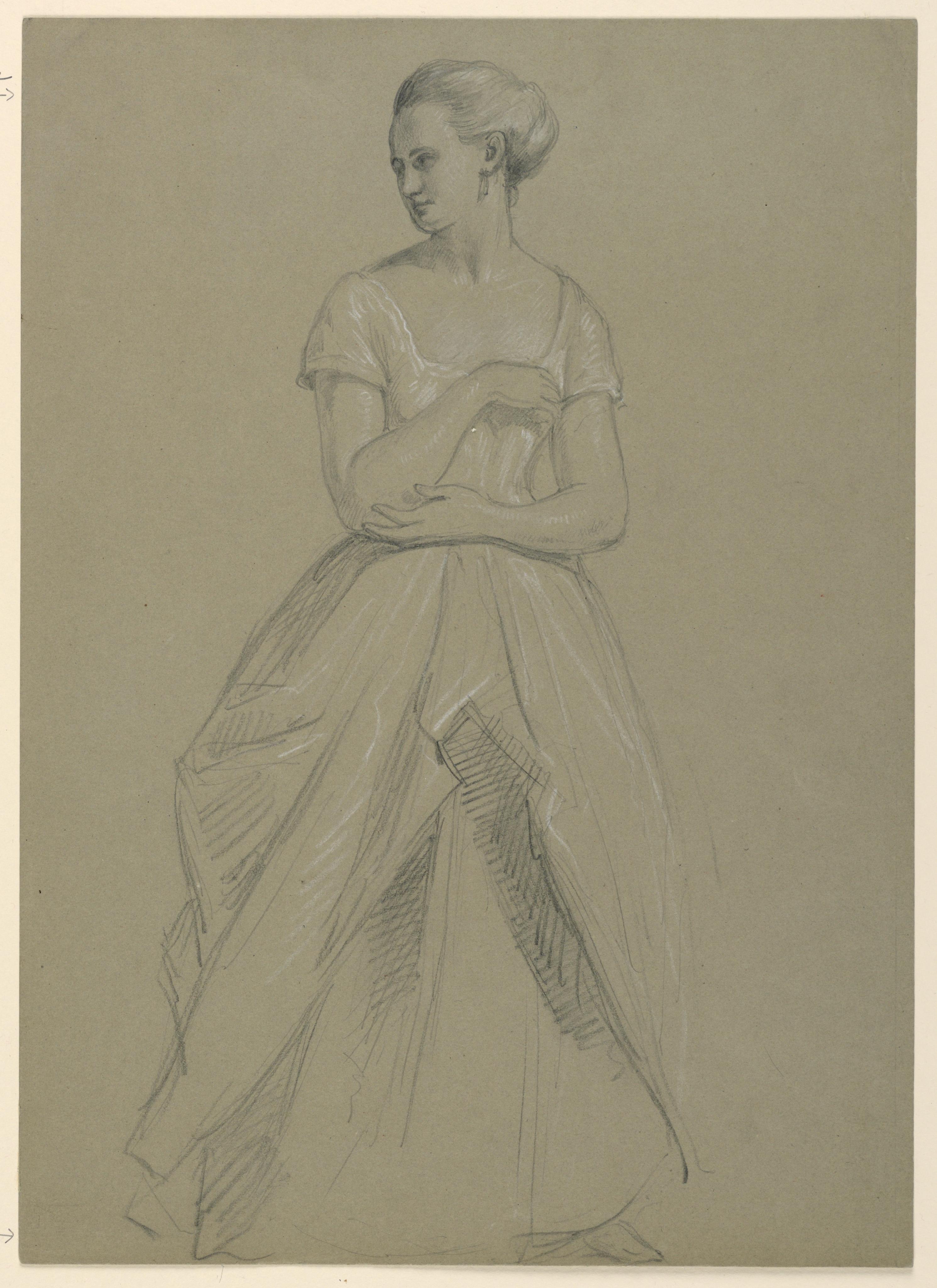 2981x4096 Filedrawing, Study For Martha Washington Reception, 1860 (Ch