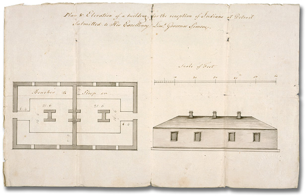 620x395 Plan Of Elevation For A Building For The Reception Of Indians