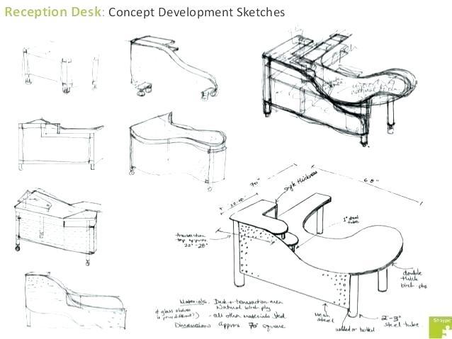 638x479 Furniture Design Sketches Furniture Design Sketches Reception Desk