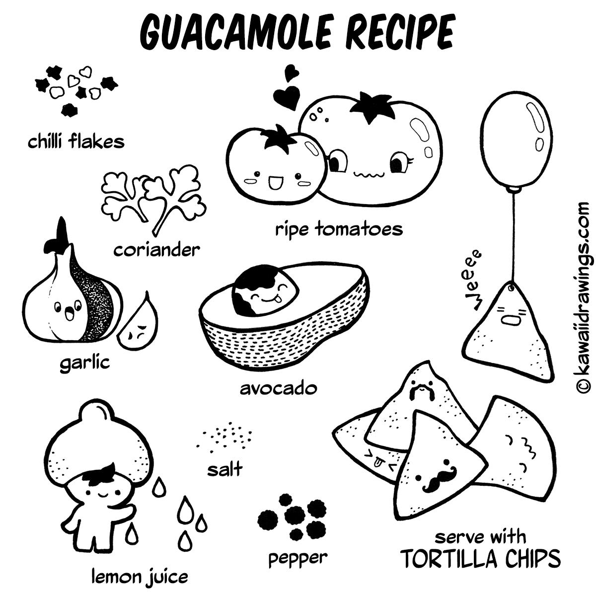 1200x1200 Kawaii Guacamole Recipe