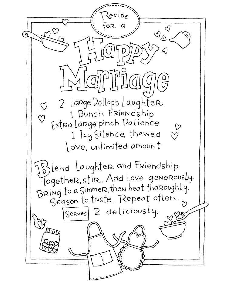765x937 Marriage Recipe Wood Mount Stamp V4 10908v