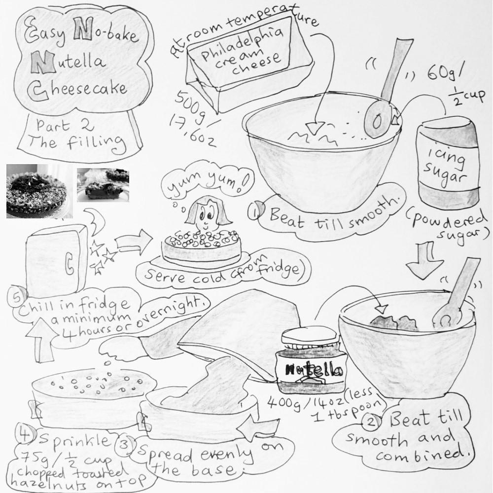 1000x1000 Nutella Cheesecake Illustrated Recipe Lili's Cakes