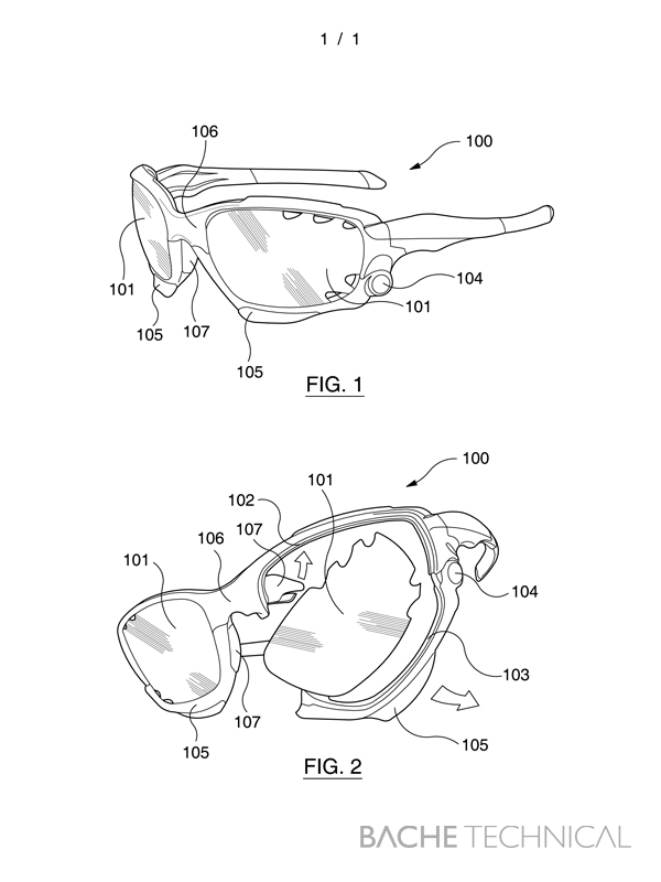 600x800 Patent Drawing Sunglasses Bache Technical