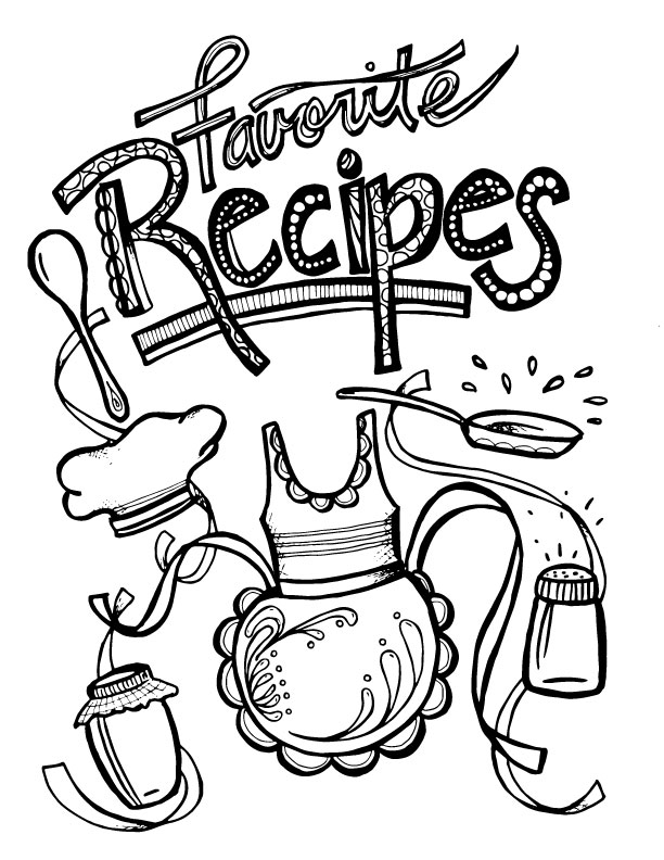612x792 Collection Of Recipe Book Drawing High Quality, Free
