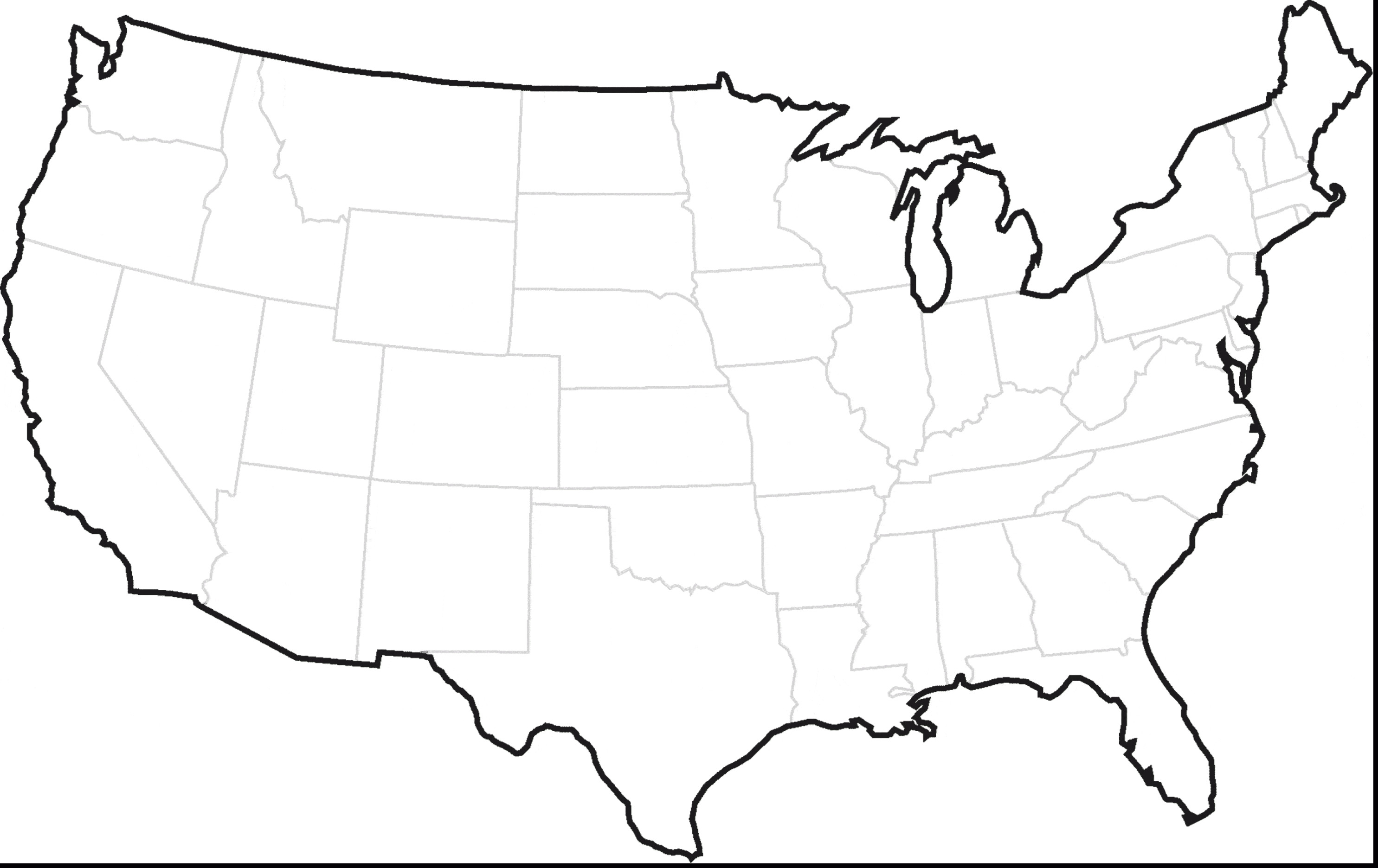 2970x1872 Blank Us Map Southwest Region Best Printable And Canada Of Hq Map
