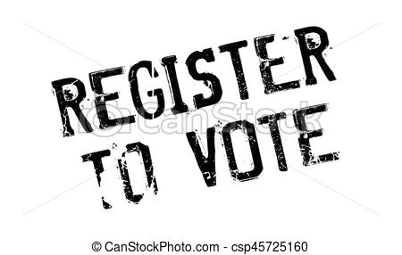 450x286 Register To Vote Rubber Stamp. Grunge Design With Dust Clip Art