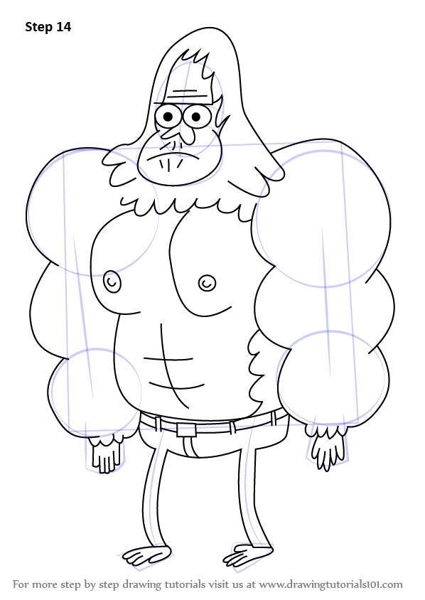 598x844 Learn How To Draw Skips From Regular Show (Regular Show) Step By