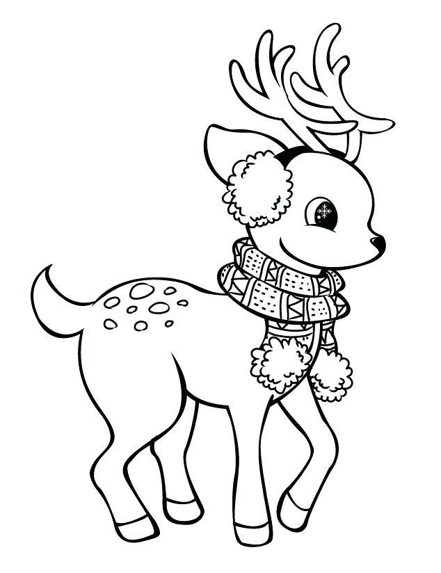 634x824 Reindeer Drawings Reindeer Christmas Reindeer Drawings Coloring