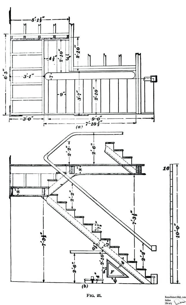 644x1053 Stair Sections Construction Drawing Metal Stair Section Detail