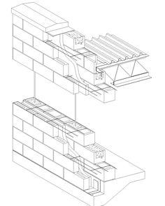 236x295 Structural Brick Wall Detail