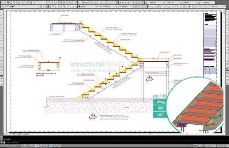 450x291 Double Stringer Timber Frame Stairs Detail Youssef