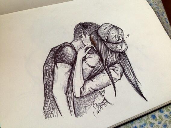 568x426 Cute Couple Drawing Ideas Tumblr