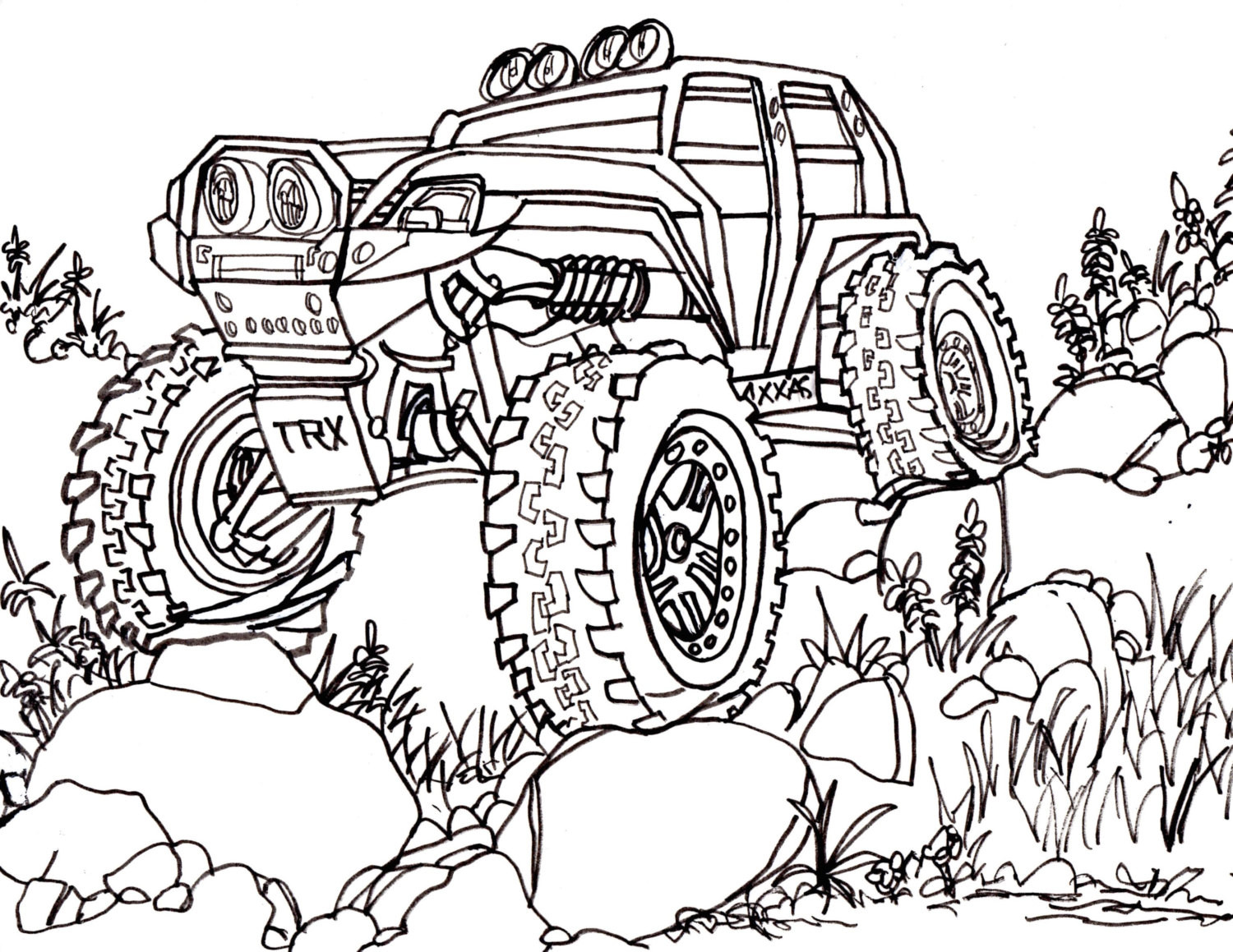 1500x1159 Remote Control Car Drawing 10 Coloring Pages 9