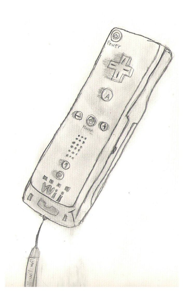 709x1126 My Wii Remote Drawing By Leenatique