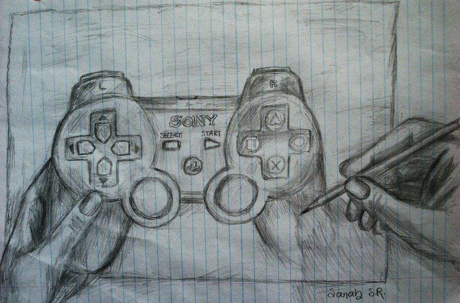 900x593 Sketch Ps3 Remote Drawing By Sky Cool13