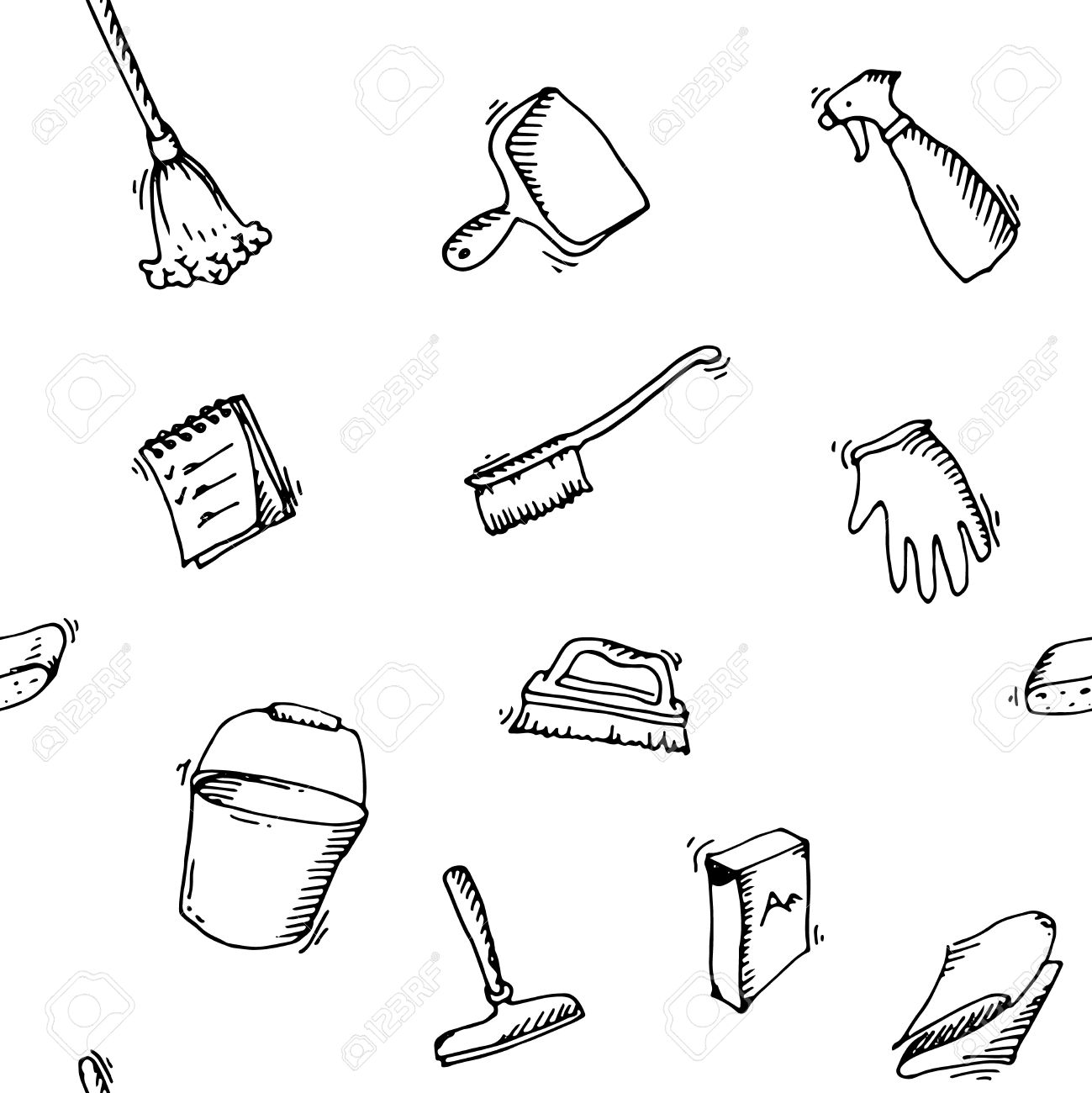 1299x1300 Interior Design Drawing Of Person With Broom Clipart Black