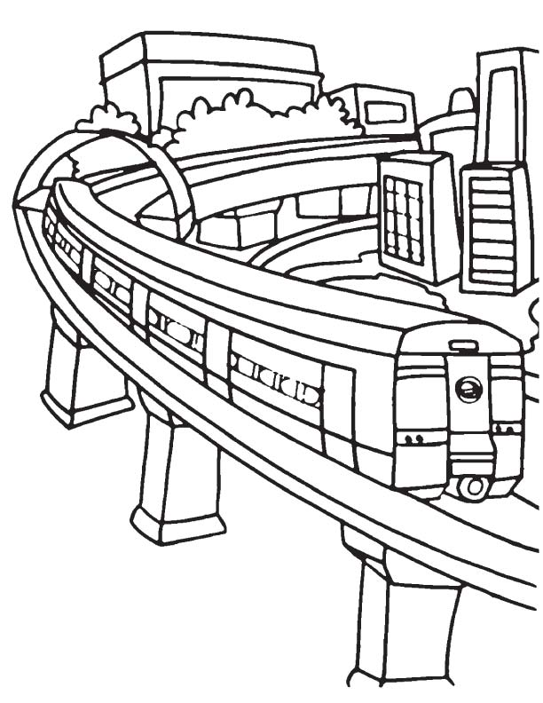612x792 Train For Drawing 22coloring Pages Passenger Train