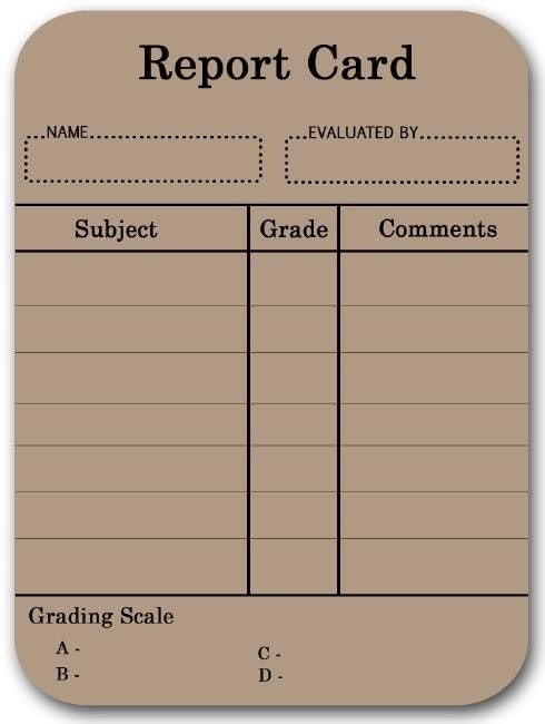 490x650 Report Card Template Entire Report Card Template Suitable Drawing