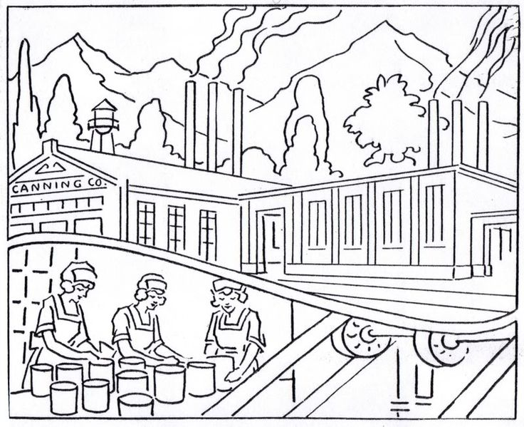 industrial revolution coloring pages - photo#2