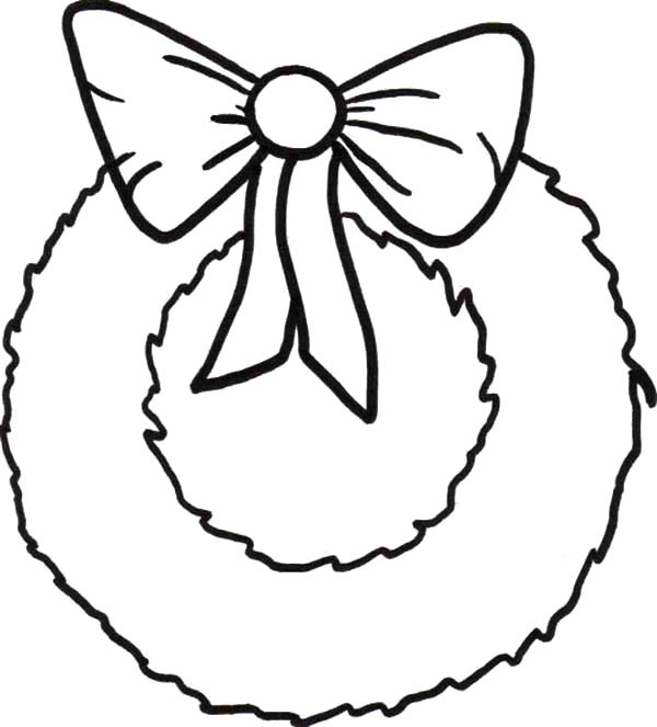 600x663 Simple Christmas Coloring Pages Simple Christmas Wreaths