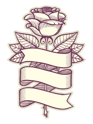 300x400 Collection Of Ribbon Drawing Ideas High Quality, Free