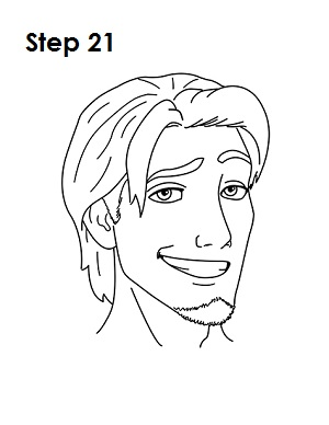 300x388 How To Draw Flynn Rider