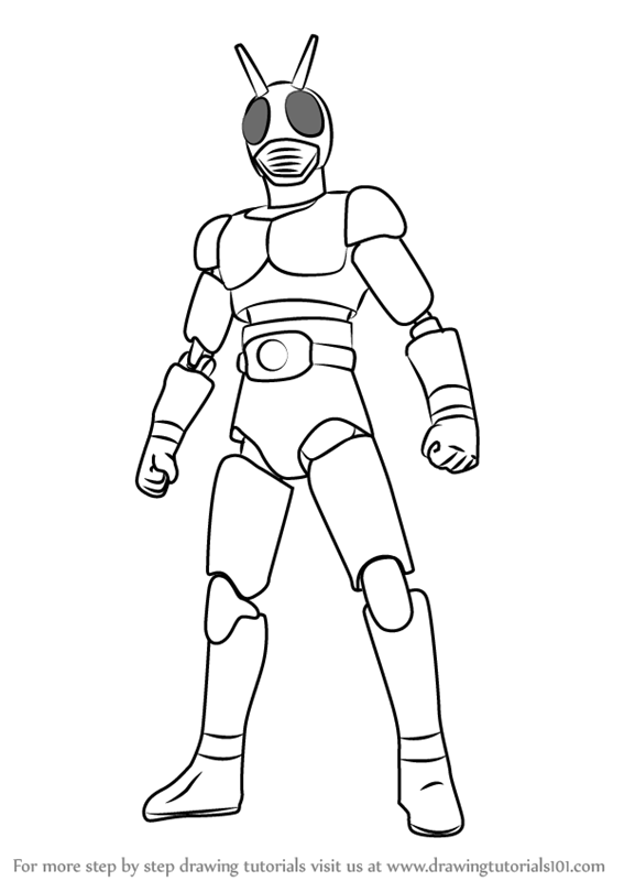 567x800 Learn How To Draw Kamen Rider (Kamen Rider) Step By Step Drawing