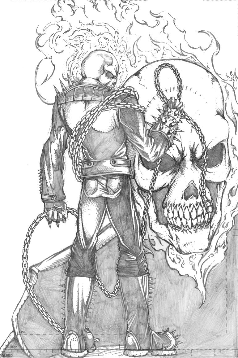 770x1156 Ghost Rider Drawing. Ghost Rider Pencil Sketch By Thecarloszayas