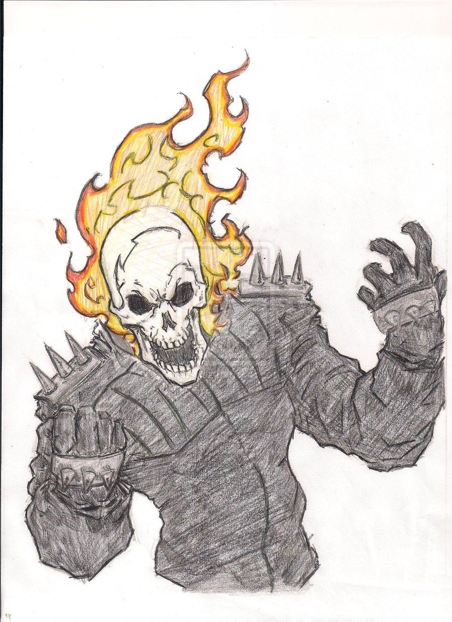 900x1238 Ghost Rider Drawings
