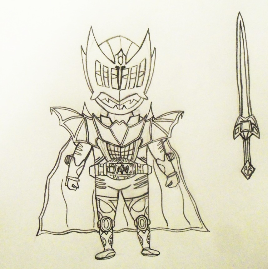 858x861 Kamen Rider King Knight (Fan Made Drawing) By Patrick4u2011