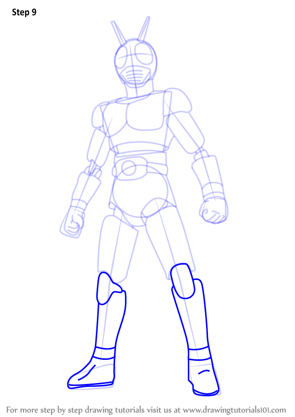 600x846 Learn How To Draw Kamen Rider (Kamen Rider) Step By Step Drawing