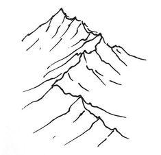 235x226 Mountain Ridge Tattoo Idea. Small And Discreet, But Meaningful