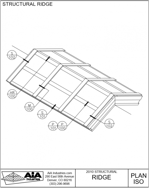 500x631 Structural Ridge Skylights Detailed Drawings Aia Industries