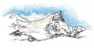 300x153 Blue Ridge Mountains Drawings Fine Art America