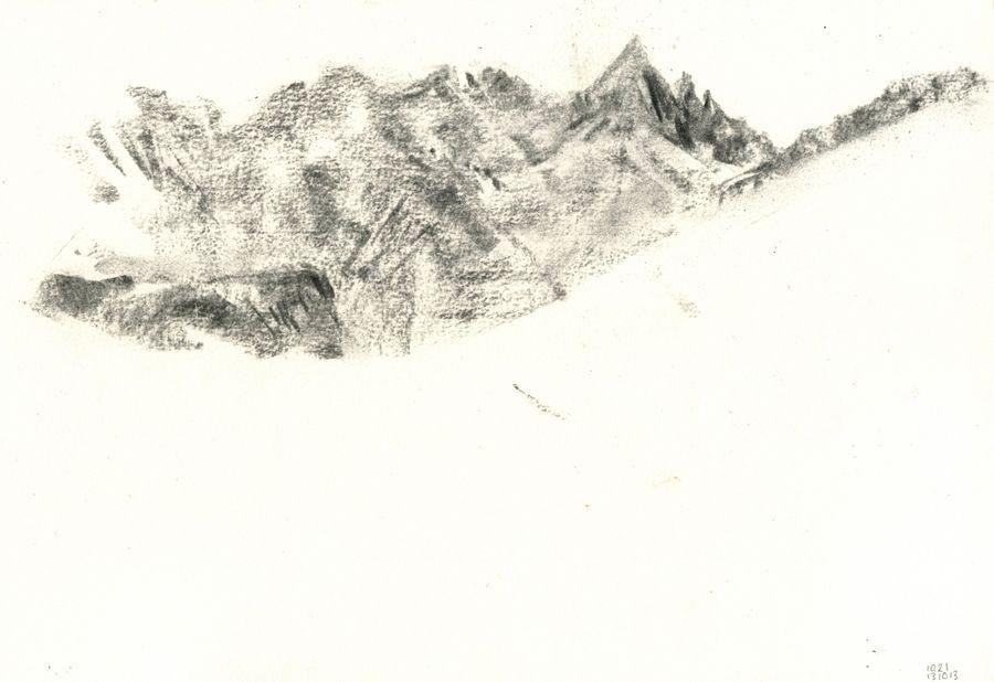 900x618 Cuillin Ridge, Skye 2014. Charcoal Drawing Landscape Drawings