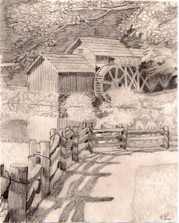 580x722 Mabry Mill By Kathleen Loveland. Monochromatic, Achromatic