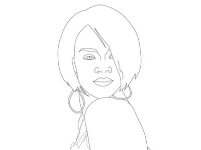 Rihanna Drawing Step By Step