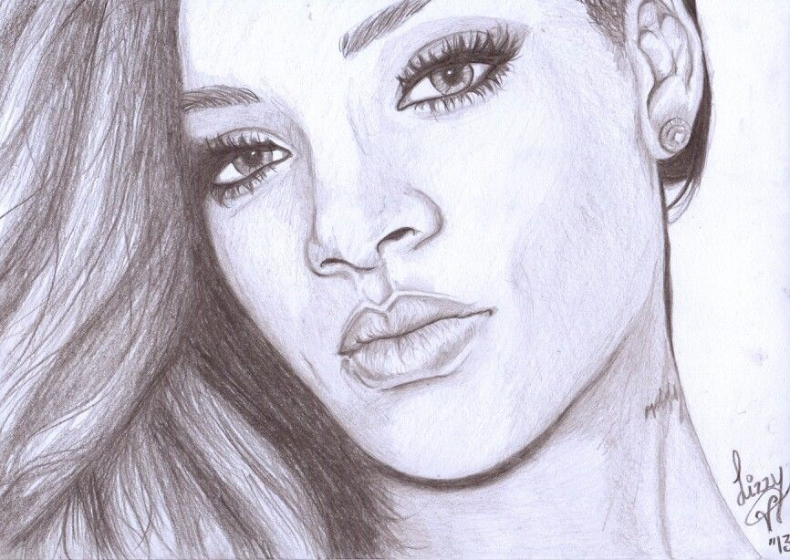 The Best Free Rihanna Drawing Images  Download From 69 Free Drawings Of Rihanna At Getdrawings